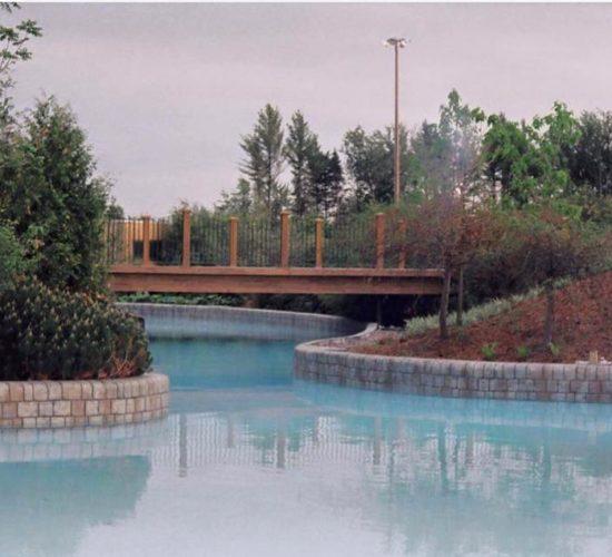 Parc Aquatique Calypso, faux fini pierres