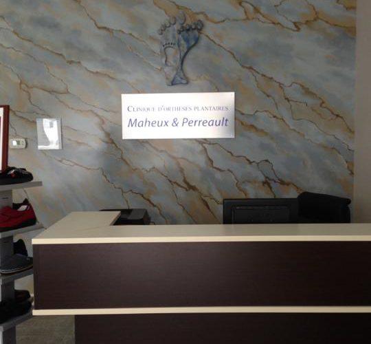 Clinique d'Orthèses plantaires Maheux & Perreault