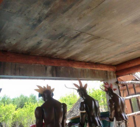 Faux fini de bois vieillot a Calypso
