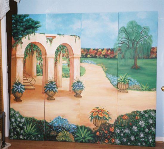 Murale jardin et champs
